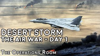 Desert Storm - The Air War, Day 1 - Animated