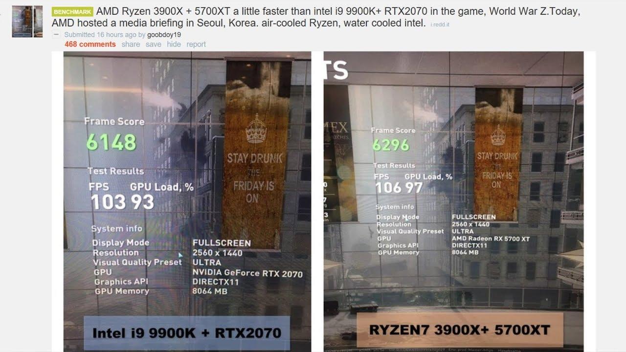 Benchmark 3900x + 5700XT/ 9900k + RTX 2070 Filtrado!