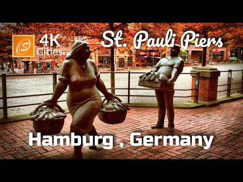 St. Pauli Piers - Walking Tour, Hamburg, Germany 4K UHD