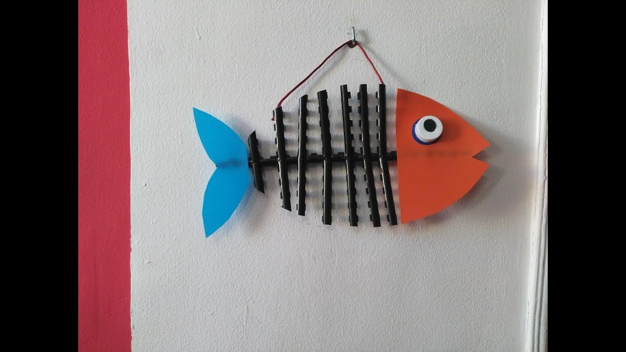 DIY Home Decor   How To Make A Fish For Wall Decor + Tutorial !