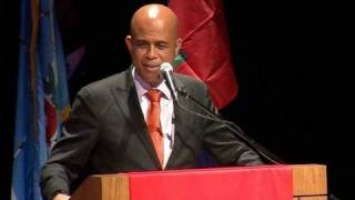 Michel Martelly at York Cole