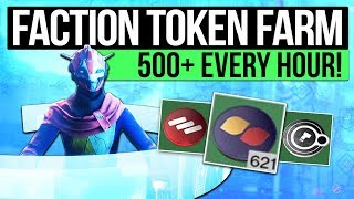 Destiny 2 | FASTEST FACTION TOKEN FARM! - Earn 500+ Tokens Every Hour! (Unlimited Token Chest)