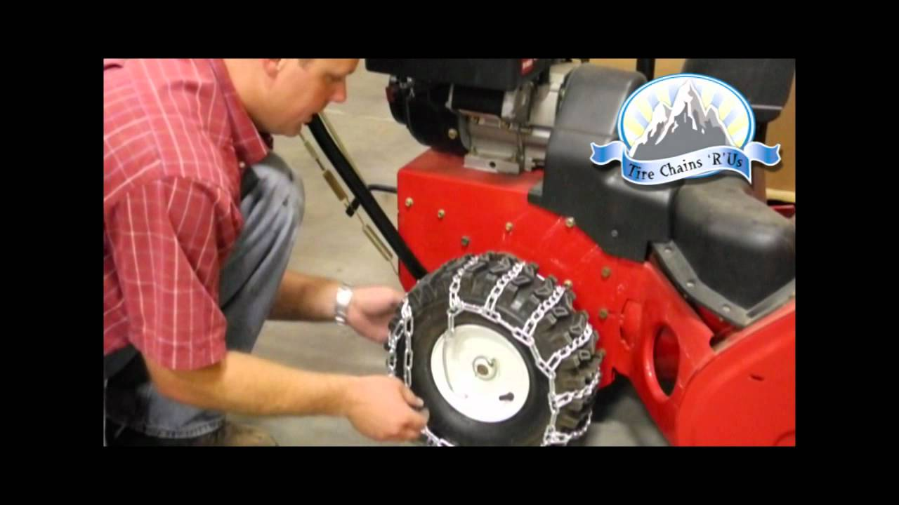 how to install snow blower tire chains youtube. Black Bedroom Furniture Sets. Home Design Ideas