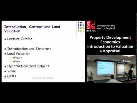 Property Development Economics: Introduction to Valuation & Appraisal