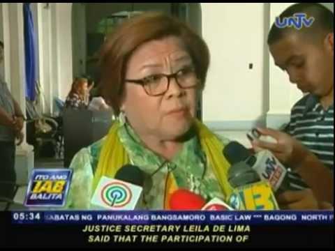 Sec. Leila De Lima, naniniwalang legal ang pagtulong ng US sa Mamasapano operation