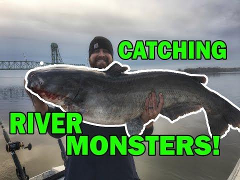 RIVER MONSTERS! Giant James River Catfish! Bucket List Trip!