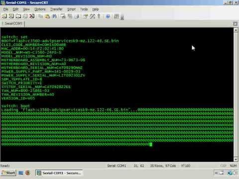 Cisco IOS Image Recovery via xMODEM