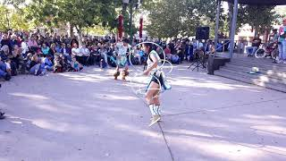 INDIGENOUS PEOPLES DAY 2019 - SANTA FE, NM   Young Hoop Dancers