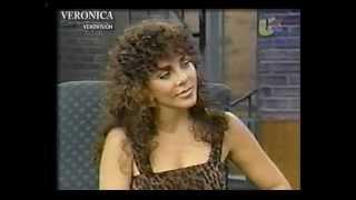 Verónica Castro en el programa de Cristina en 1998.