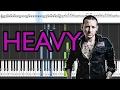 Linkin Park Heavy Ft Kiiara Piano Tutorial WITH NOTES MIDI HOW TO PLAY mp3