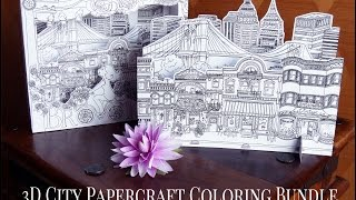 Hattifant - 3D City PaperCraft Project to COLOR - TEASER