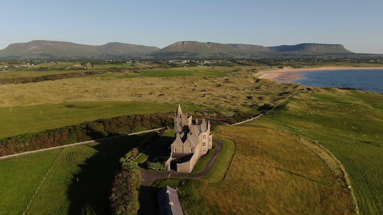 Classiebawn Castle Benbulbin Mountain Co Sligo Republic Of Ireland Youtube