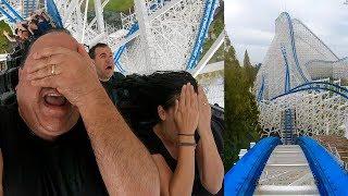 HILARIOUS Hakugei Rain Ride! OMG! Roller Coaster In POURING Rain! Onride POV Nagashima Spaland Japan