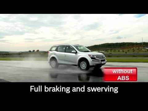 EN   Mahindra XUV500 safe braking with Bosch antilock braking system ABS