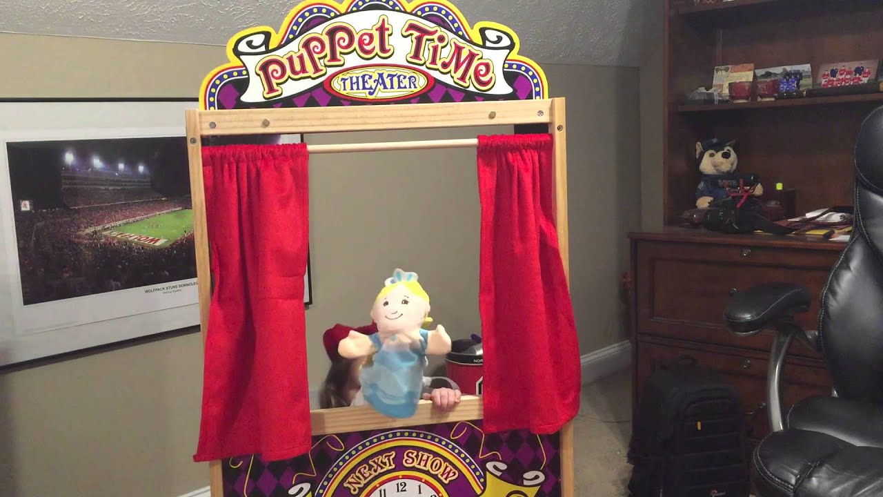 Melissa  Doug Wooden Puppet Theater Giant Surprise  YouTube