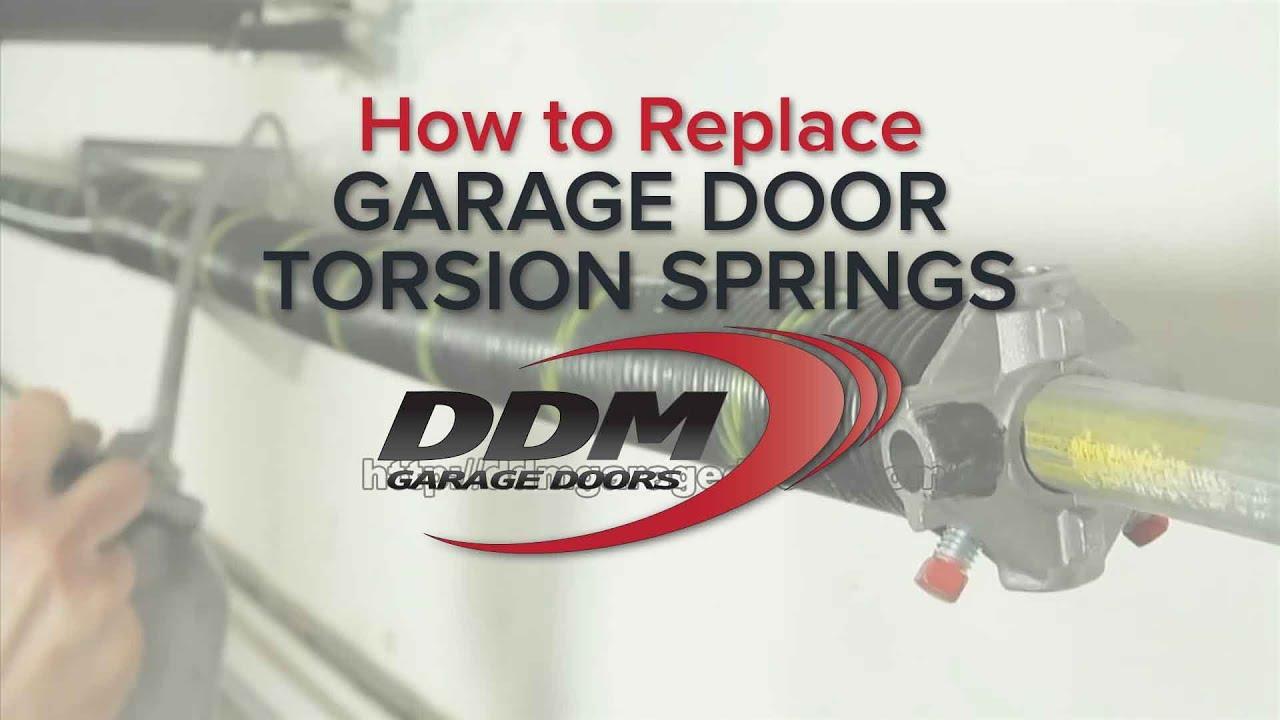 How To Replace Garage Door Torsion Springs - YouTube on Overhead Garage Door Spring Replacement  id=32086