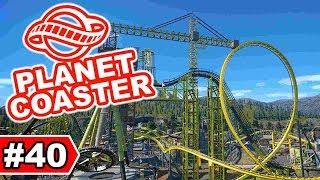 Neuer Freefalltower im Kran   Planet Coaster Let's Play #40