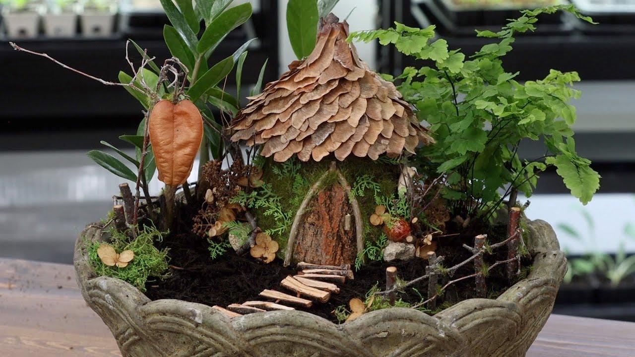 Fairy House Made from the Garden! 🧚🏠💚// Garden Answer