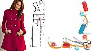 Выкройка основа для верхней одежды. Pattern basis for outerwear.