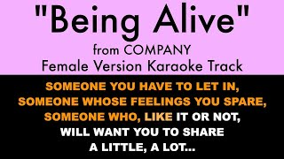 Being Alive from Company (Female Version) - Karaoke Track with Lyrics on Screen