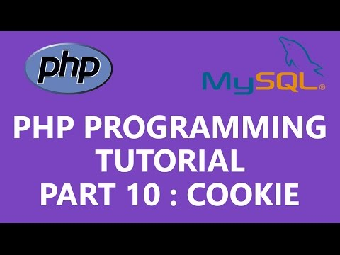 PHP Programming Tutorial Part 10  - Cookie