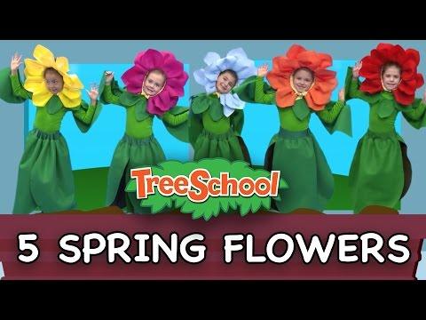 5 Spring Flowers   Treeschoolers   Two Little Hands TV