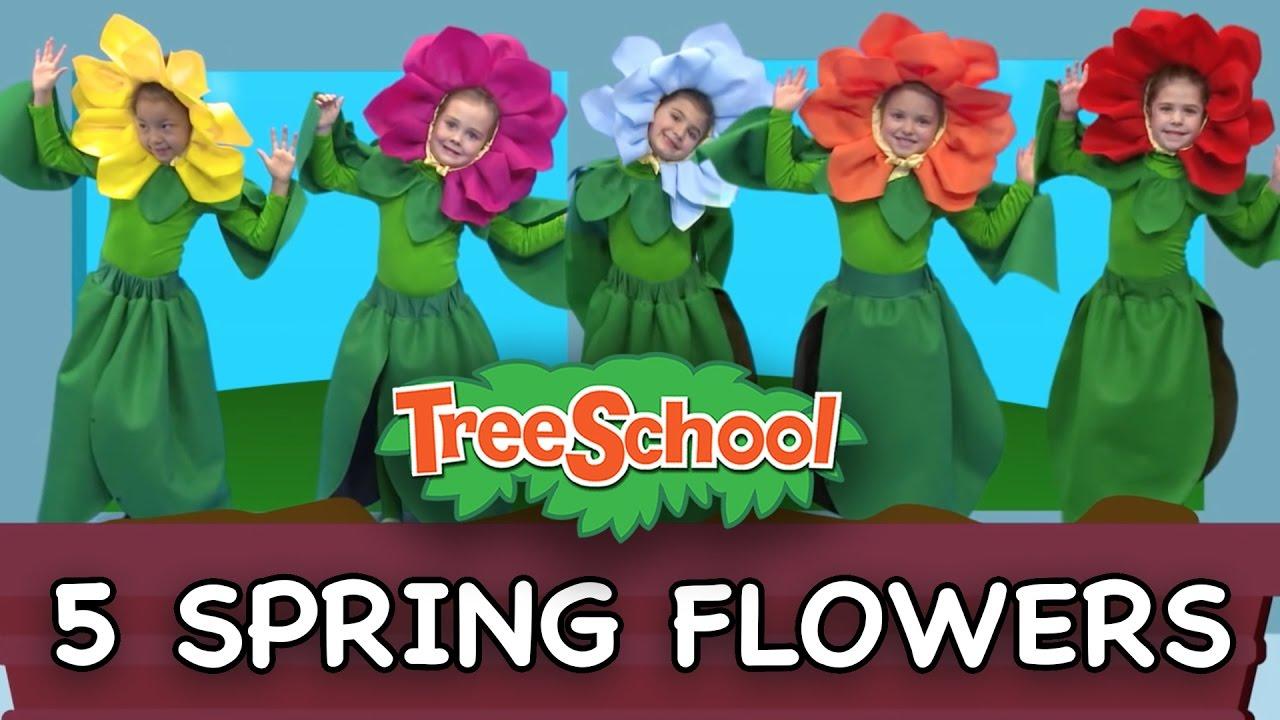5 Spring Flowers Treeschoolers Two Little Hands Tv Youtube