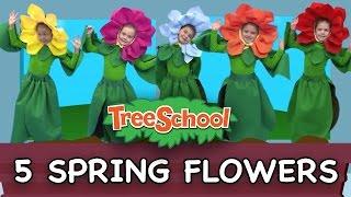 5 Spring Flowers | Treeschoolers | Two Little Hands TV