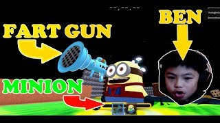 THIS FAT MINION AND HIS STINKY FART GUN CRASH EVERYTHING IN ROBLOX MINION ADVENTURE OBBY