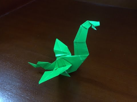 Easy Origami Wyvern - How to make a paper easy wyvern