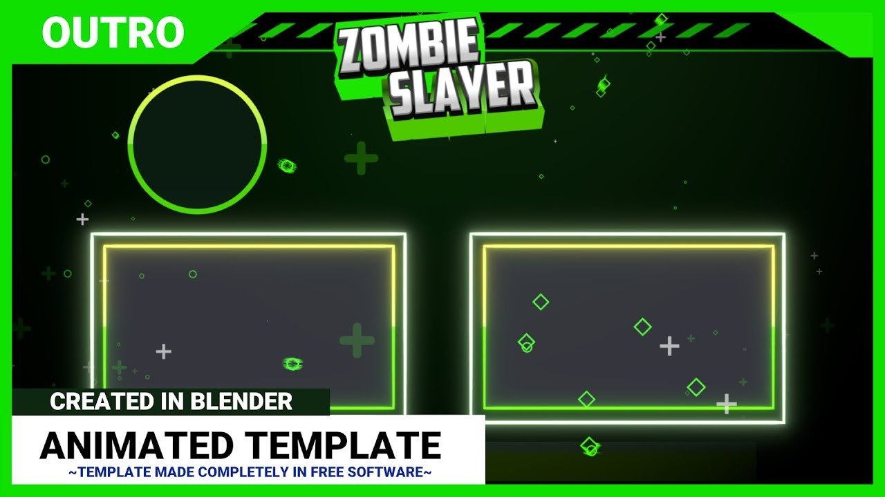free outro template - blender professional 2d outro template for youtubers