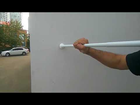 Как поставить палку для шторки в ванной