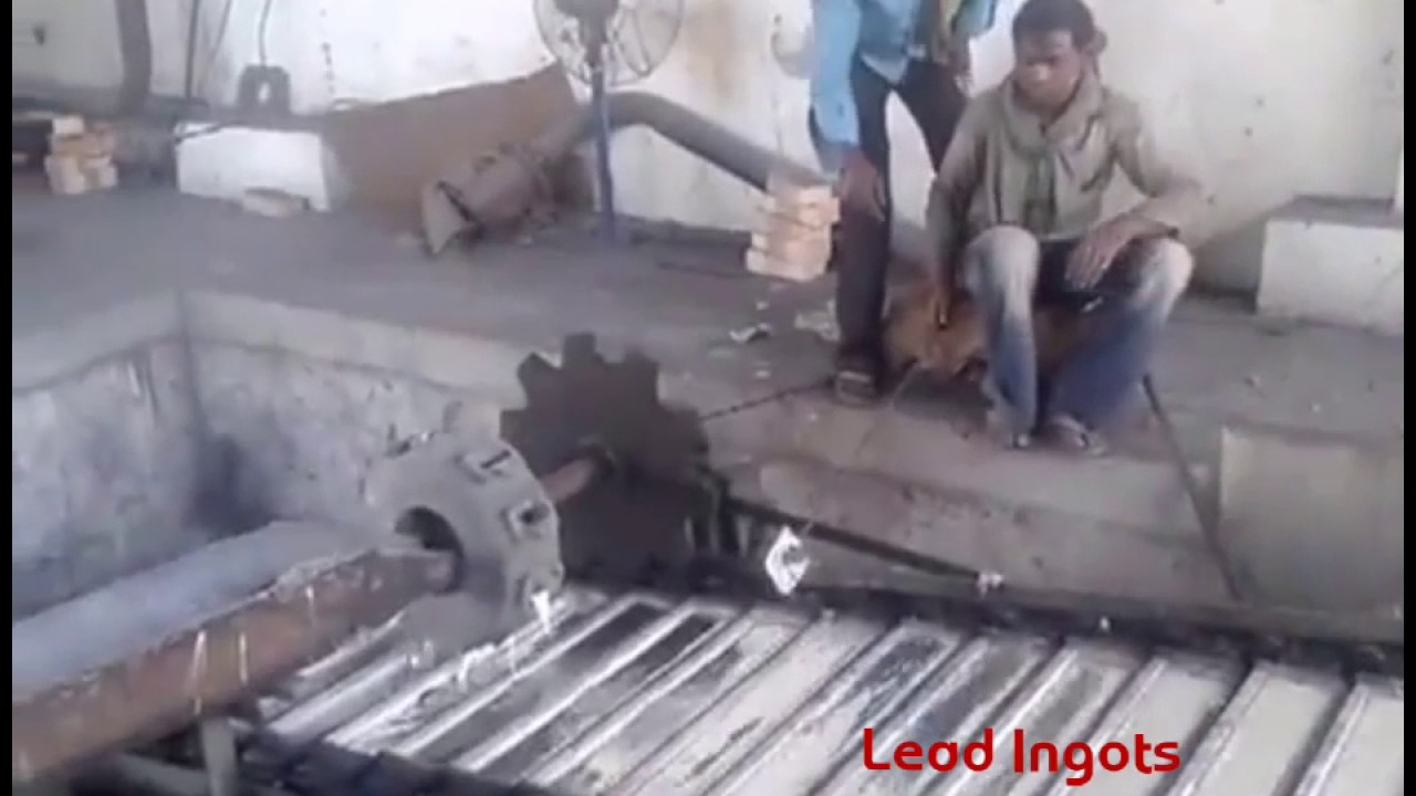 Rotary Furnace For Lead Melting - YouTube