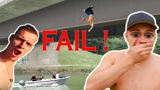 Splashdiving   FAiL   Wer kann Länger Challenge #9   Teil 2   Max Moreno