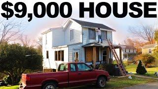 $9,000 HOUSE - FULL PAINT JOB // HUGE TRANSFORMATION - EP. 35