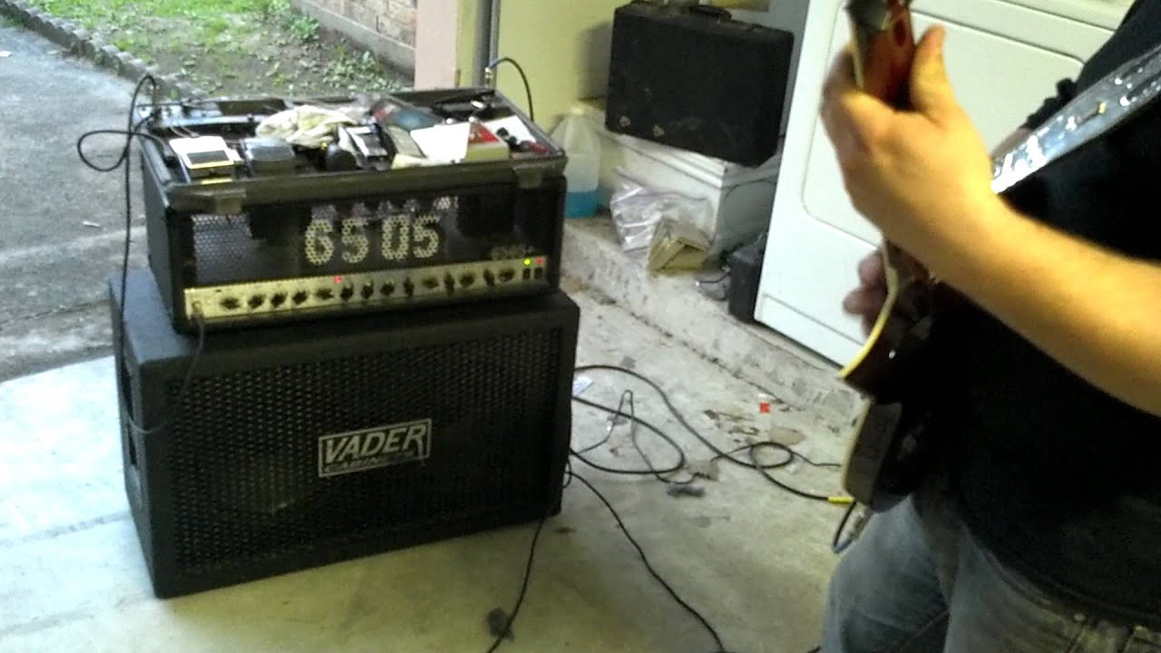 Peavey 6505+ and Vader 2x12 test - YouTube