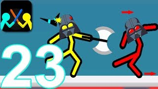 Supreme Duelist Stickman - Walkthrough Gameplay Part 23 - Boomerang Weapon Stickman Android Game