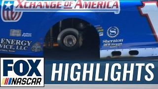 Reed Sorenson Returns to Pit Road with 3 Tires After Wreck | 2017 TEXAS | FOX NASCAR