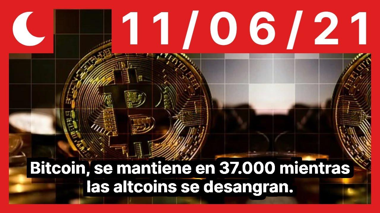 Bitcoin, se mantiene en 37.000 mientras las altcoins se desangran.