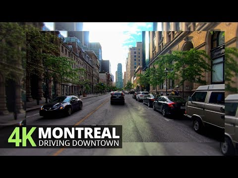 Montreal 4K60fps - Driving Downtown - Quebec, Canada