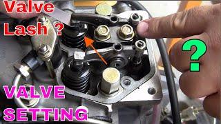 Valve timing | Valve lash | valve setting  of four stroke petrol engine