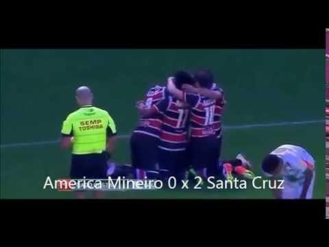America MG 0 x 3 Santa Cruz - Gols do jogo - 17/07/2016 - Brasileirão 2016