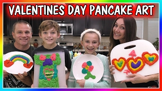 VALENTINE'S DAY PANCAKE ART CHALLENGE | We Are The Davises