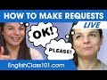 How to Make Requests in English  - Basic English Phrases