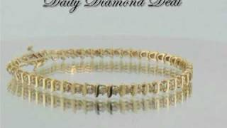 10K Yellow Gold Womens S-Link Tennis Bracelet 1/2 CT www.DailyDiamondDeal.com(, 2010-03-10T14:45:29.000Z)