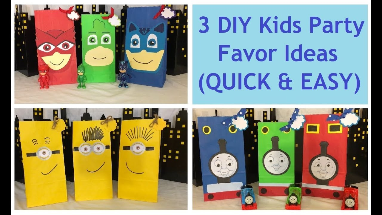 Diy Kids Party Favors Super Easy Birthday Party Gift Ideas For Kids