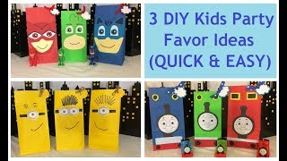 DIY Kids Party Favors, SUPER EASY Birthday Party gift ideas for kids