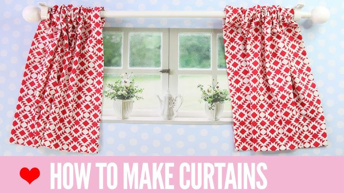 How To Make Curtains Simple Rod Pocket Style Youtube