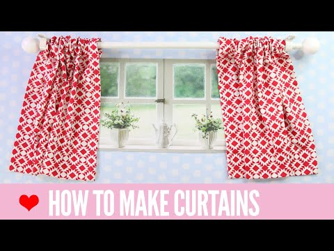 How To Make Curtains   SIMPLE Rod Pocket Style