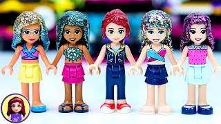The Glitter Popstar Series - Lego Friends Hair Makeover DIY Craft